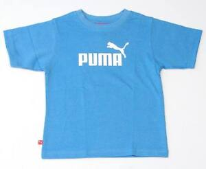 Puma Signature Blue Short Sleeve Tee T Shirt Little Boys Size 4 NWT