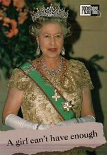 Queen Elizabeth II Wearing her Crown - Royal Family Trading Card, Not a Postcard