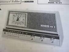 PANASONIC RC-615 RADIO RECEIVER PHOTOFACT