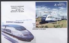Romania 2004 Trains/Rail/Railways/Transport/Locomotives m/s FDC (n12300)