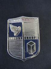 """Vintage  """"SWAN""""  Emblem METAL   APPLIANCE  CHROME BADGE"""