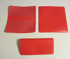 1 NEW RED VINYL CHECKBOOK COVER WITH DUPLICATE FLAP CHECK BOOK COVERS
