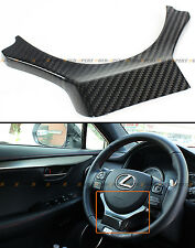 FOR 2014-2017 LEXUS IS250/350/200T CARBON FIBER STEERING WHEEL ADD-ON TRIM COVER