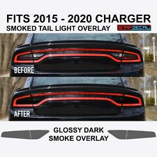 Premium PreCut Tint Overlay Fits 2015-2020 CHARGER Rear Tail Light - Dark Smoke