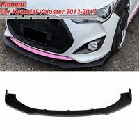 Front Bumper Lip Body Kit Chin Spoiler Matte Black For Hyundai Veloster 2013-17