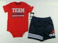 adidas baby boys set,  2-Piece Bodyshirt and shorts set size 24 months