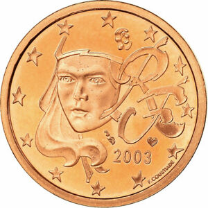 [#772113] France, 5 Euro Cent, 2003, BE, FDC, Copper Plated Steel, KM:1284