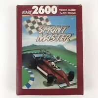 Vintage 1988 Sprint Master Atari 2600 Video Game With Box Manual and Inserts