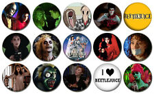"""BEETLEJUICE  Lot of 15 - Pin Back 1"""" Buttons (One Inch) Set"""
