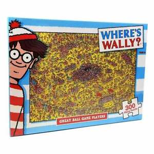 300 Piece Jigsaw Puzzle Where's Wally - Great Ball Game Players