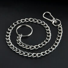 Luxury Long Keyring Keychain Silver Chain Hipster Key Wallet Belt Ring Clip