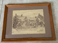 Vintage Art Print Empire Mine Grass Valley CA Limited Edition Signed Numbered