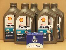 Shell Advance Ultra 4t 15w-50/UFI FILTRO OLIO DUCATI 600 RC (schraubfilter)