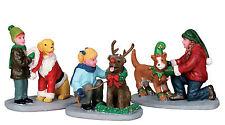 Lemax Decoration 'Doggie Dress Up', Christmas Cake Decorating, Set 3 Dog Figures