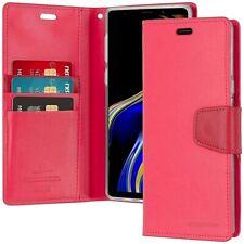 Galaxy Note 9 Genuine MERCURY Goospery Sonata Hot Pink Flip Case Wallet Cover