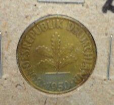 CIRCULATED 1950D 10  PFENNIG GERMAN COIN (62816)!