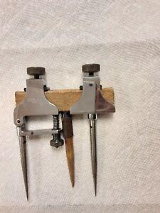 Vintage Starrett No. 50A Set of 2 Adjustable Trammel Points