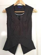 Nylon Polka Dot Regular Size Machine Washable Tops for Women