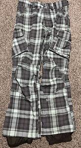 Burton Snowboard Ski Pants Mint Green Gray Men's Size Medium