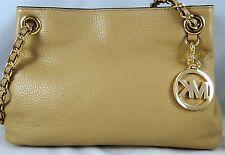 ed6b12f1e1b3 Michael Michael Kors Jet Set Chain Medium Dark Camel Leather Messenger Bag