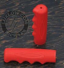 Red Vintage Schwinn Stingray Type Bike Grips Lowrider Muscle Bicycle Cruiser