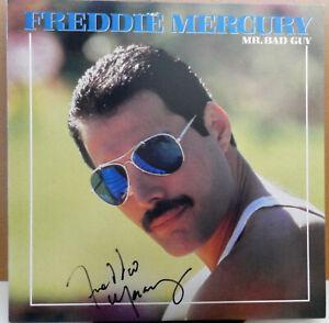 FREDDIE MERCURY Mr Bad Guy AUTOGRAPHED Vinyl Album SIGNED LP Record Queen 1985