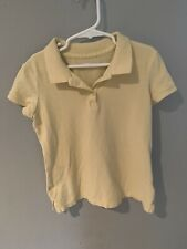 Old Navy Girls Collared Polo Shirt Size M 8 Yellow