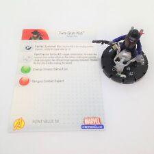 Heroclix Avengers set Two-Gun Kid #049 Super Rare figure w/card!