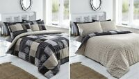 BLACK GOLD GREY REMI PATCHWORK PRINT DUVET COVER SET IN DOUBLE KING OR SUPERKING