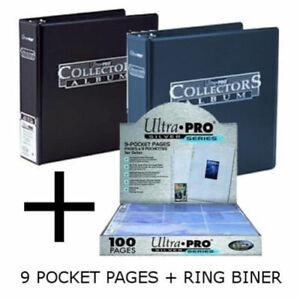 Ultra Pro Trading Card Ring Album/Binder/Folder & A4 9 Pocket Pages Holds 1800