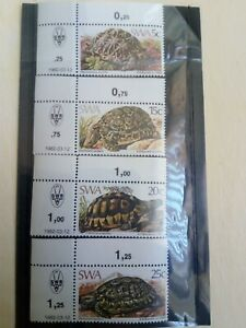 SWA MNH 1981 SG390-93 Tortoises Control Strips Set of 4