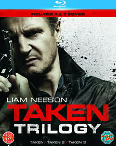 TAKEN TRILOGY (3 FILMS) 1 TO 3 MOVIE COLLECTION BLU-RAY [UK] NEW BLURAY
