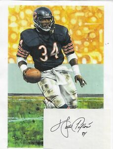 WALTER PAYTON RARE AUTOGRAPH WITH NFL HALL OF FAME IMAGE...MUST HAVE...