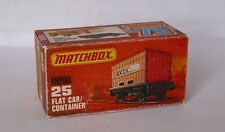 Repro Box Matchbox Superfast Nr.25 Flat Car/Container