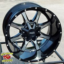 "20x12"" BLACK MOTO METAL MO970 WHEELS RIMS FORD F-250 F-350 SUPER DUTY 8x170 XLT"