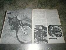 1973 MONTESA CAPPRA 250 VR Motocross  Cycle Road Test Article  6 pages