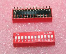 12 Pin Slide/DIP Switch SPST - Lot of 3      ( DS12A )