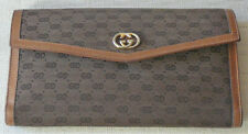 Gucci vintage French purse / wallet. Fabric and leather, gently worn.