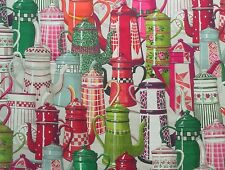 Manuel Canovas Curtain Fabric PAULETTE (Rose) Coffee Pot Design- Price Per Metre