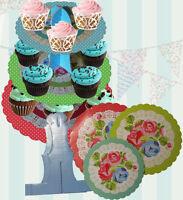 3 TIER VINTAGE CAKE CUPCAKE STAND TEA PARTY BRITISH AFTERNOON TEA DISPLAY TREATS