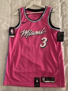 Dwyane Wade Miami Heat Earned Jersey Nike 2019 M44 Pink NBA