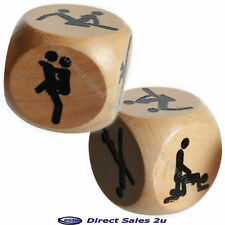 1 x Kama Sutra Wooden Adult Sex Dice Game Christmas Fun Secret Santa Gift Xmas