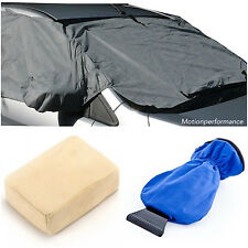 Insulated Glove Ice Scraper, Car Windscreen Frost Protector Cover & Demister Pad