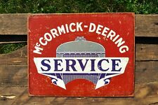 McCormick Deering Service Metal Tin Sign - IH - International Harvester Farmall