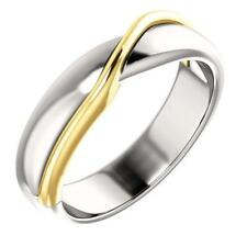 14k Two-Tone Gold Twisted Wedding Band