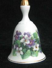 Sweet Violets Bell from Danbury Mint Summer Collection Wildflower Bells