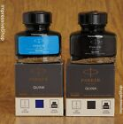 Parker Quink Fountain Pen Ink Bottle 30ml Black Or Blue Ink Free Shipping