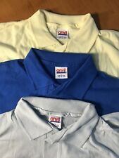 Lot of 3 Vintage Anvil Polo T-shirt Deadstock NOS Large 50/50 single stitch Rare