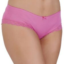 Ladies/Girls Underwear Pink High Leg Briefs High Quality with Lace Top Size 18