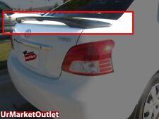 ABS Unpaint OE Style Rear Spoiler Wing+Brake Light for Toyota 06-11 Yaris 4Door